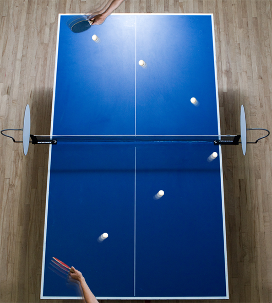 Ricoshot on a standard ping pong table.